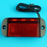LED Marker Low Profile with Reflector - Red