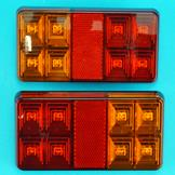 LED 3 Function Rear Trailer Lamp - Pair