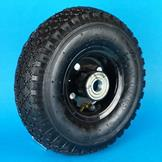 Replacement Jockey Wheel with Pneumatic Tyre on Black Steel Rim