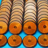 Pack of 100 - 60mm Reflectors Amber