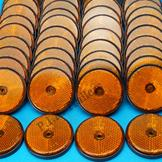 Pack of 50 - 60mm Reflectors Amber