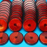 Pack of 50 - 60mm Reflectors Red