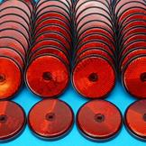 Pack of 100 - 60mm Reflectors Red