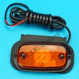 LED Amber Side Marker Lamp 12v-24v on Horizontal Bracket