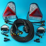 Plug-in LED Trailer Lamps with 8m Harness & LED Number Plate Lamps for Aspock Earpoint 3
