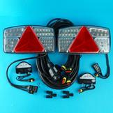 Plug-in LED Trailer Lamps with 8m Harness & LED Number Plate Lamps