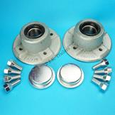 Pair of Wheel Hubs & Bearings for Ifor Williams P6E