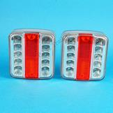 LED Lamps Chrome Finish - Pair