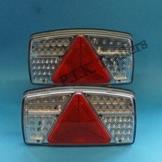 LED 6 Function Combination Lamps - Pair