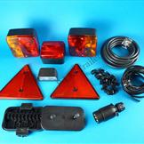 Trailer Rear Light Kit with 7 Pin Plug, Cable & Junction Box