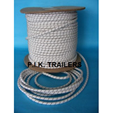 8mm White Elasticated Bungee Cord